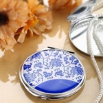 HOLI® Chinoiserie Porcelain Round Mirror Cosmetic Mirror Compact Mirror, Gift Idea, Gift Box Included