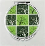 HOLI® Green Plaid Round Mirror Cosmetic Mirror Compact Mirror, Gift Idea, Gift Box Included