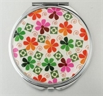 HOLI® Colorful Flower Round Mirror Cosmetic Mirror Compact Mirror, Gift Idea, Gift Box Included