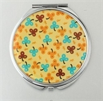 HOLI® Yellow Flower Round Mirror Cosmetic Mirror Compact Mirror, Gift Idea, Gift Box Included