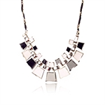 Women Gold Plated Bib Bubble Collar Square Bead Statement Necklace,Gift Ideas