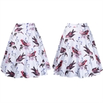 HÖTER Women Vintage Retro Hepburn Style A-Line Flirt Printed Cocktail Swing Skirt