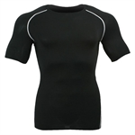 HOTER® Pro Sports Tight Compression Short Sleeve Crew, Black