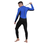 HÖTER Men's 3mm Neoprene Stretchy Thick Warm Long Sleeve Snorkeling Surfing Diving Skin Zip Full Suit Wetsuit