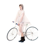 New Fashion Lovely Girl Women Hooded Raincoat Fast Dry Cute Waterproof Lightweight Rainwear