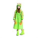 Rain Coat Cartoon Hooded Waterproof Raincoat for Kids Children,Size 4-8