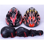 Hoter Skating Protective Gear Set, Helmet + Elbow Pads + Wrist Pads + Palm Pads, Price/Set