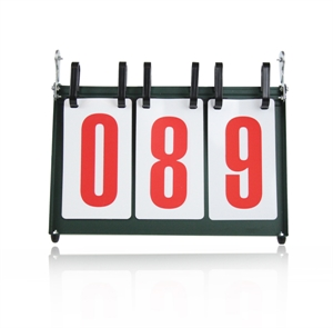 CATO&#8482 Portable Three-Figure Intelligence Contest Flip Scoreboard For Students, Tabletop Scoreboard