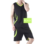 H:oter® Mens Adult Basketball Training Jersey and Shorts