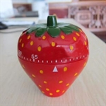 Hoter® 60-Minutes Cute Strawberry Kitchen Timer, Mechanical Timer, Price/Piece, FOUR FOR ONE FREE