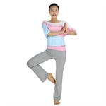 Womens Soft Loose-style Two-piece Yoga Fitness Set, Three-quarter sleeved top & Long Pants, Price/Set