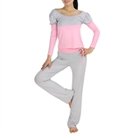 Womens Assorted-color Design Fitness Yoga/Dancing Set, Long-sleeved Top & Pants, Price/Set