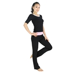Womens Classic Style Fitness Yoga Three-piece Set, Vest/Three-quarter-sleeved Top/Pants, Price/Set