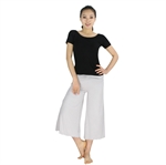 Womens Super Soft Fitness Yoga/Dancing Two-piece Set, Short-sleeved Top & Bell-bottom Pants, Price/Set