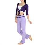 Top Quality Three-piece Fitness Yoga/Dancing Set, Vest/Bonds Top/Pants, Price/Set