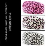 Hoter Large Sexy Leopard Grain Hard Case For Sunglasses, Oversized Case, Suede Fabric, Gift Idea, 3 Colors, Price/Piece
